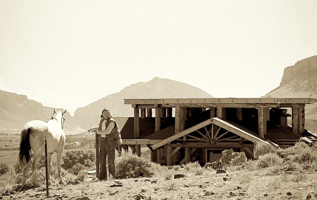 Smith Outside His Home